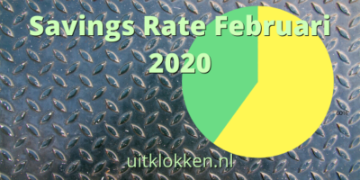 Savings Rate Februari 2020