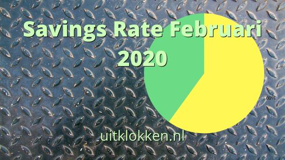 Savings Rate Februari 2020