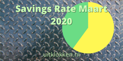 Savings Rate Maart 2020