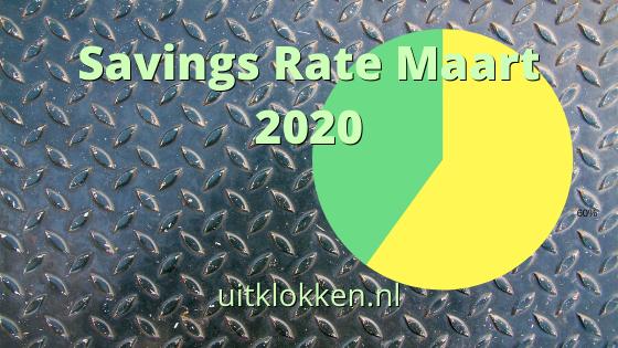 Savings Rate Maart 2020