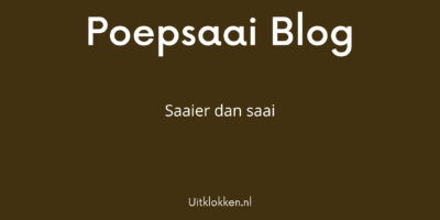 Poepsaai Blog