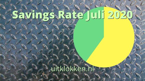 Savings Rate Juli 2020