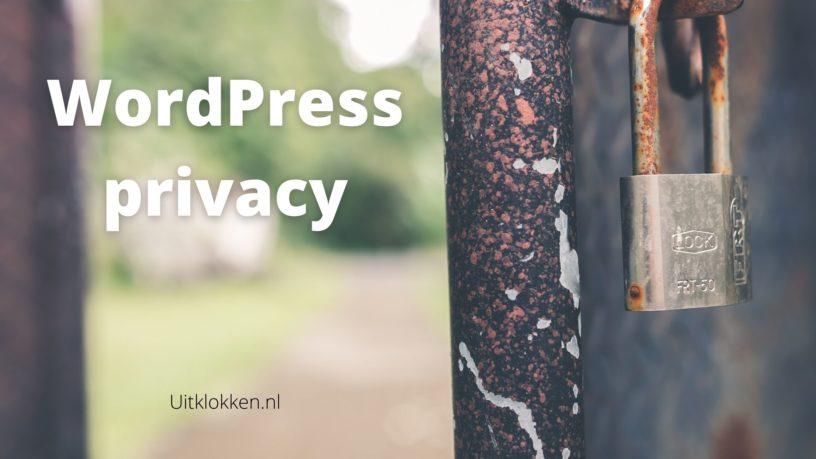 WordPress privacy