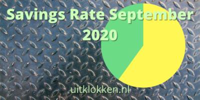 Savings Rate September 2020